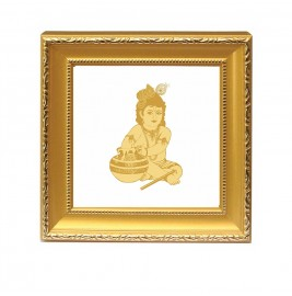 24K GOLD PLATED Double Glass Frame BAL GOPAL
