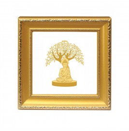 24K GOLD PLATED Double Glass Frame tree of life