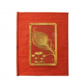 24K GOLD PLATED JOURNAL & NOTEBOOK ACRYLIC FEATHER
