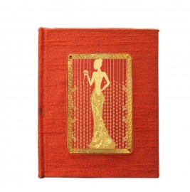 24K GOLD PLATED JOURNAL & NOTEBOOK ACRYLIC LADY