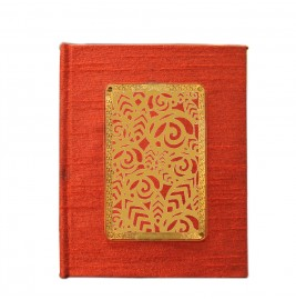 24K GOLD PLATED JOURNAL & NOTEBOOK ACRYLIC FLORAL