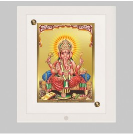 24K GOLD PLATED ACF FRAME SIZE 1 CLASSIC COLOR GANESHA -1