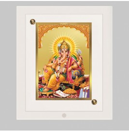 24K GOLD PLATED ACF FRAME SIZE 1 CLASSIC COLOR GANESHA -2