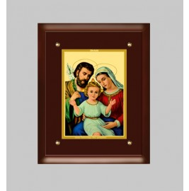 24K GOLD PLATED MDF FRAME SIZE 4 CLASSIC COLOR HOLY FAMILY