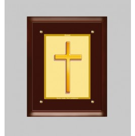 24K GOLD PLATED MDF FRAME SIZE 4 CLASSIC COLOR HOLY CROSS