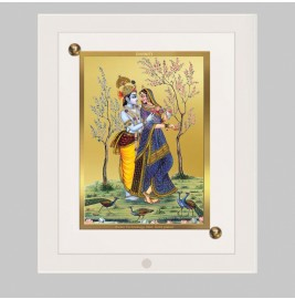 24K GOLD PLATED ACF FRAME SIZE 1 CLASSIC COLOR RADHA KRISHNA-2