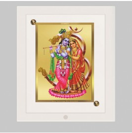 24K GOLD PLATED ACF FRAME SIZE 1 CLASSIC COLOR RADHA KRISHNA-3