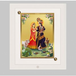 24K GOLD PLATED ACF FRAME SIZE 1 CLASSIC COLOR RADHA KRISHNA-4