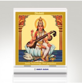 24K GOLD PLATED ACF 3A CLASSIC COLOR SQUARE SARASWATI
