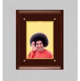 24K GOLD PLATED MDF FRAME  SIZE 3 CLASSIC COLOR SATYA SAI