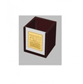 24K GOLD PLATED Table Top Square pen holder