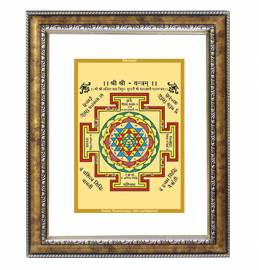 24K GOLD PLATED DG FRAME 113 SIZE 2.5 CLASSIC COLOR SHREE YANTRA